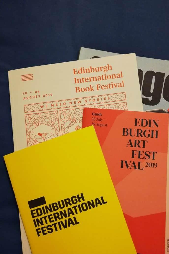 Edinburgh Festival programme brochures