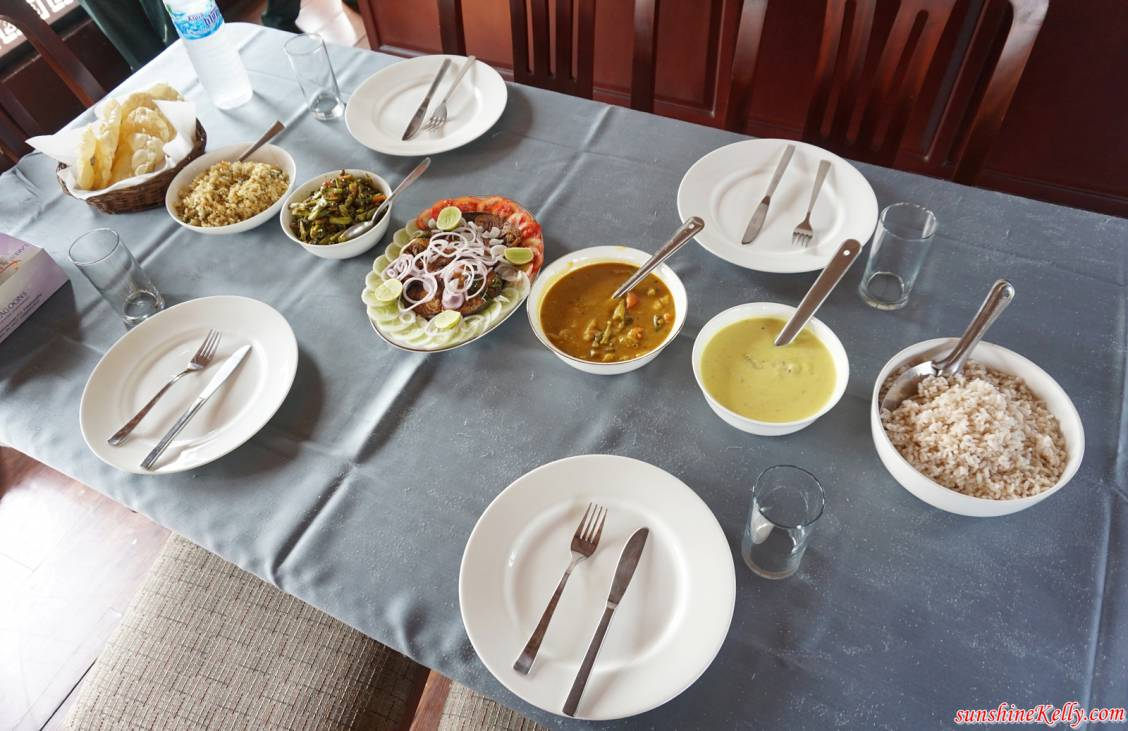 An Indian lunch served on a table