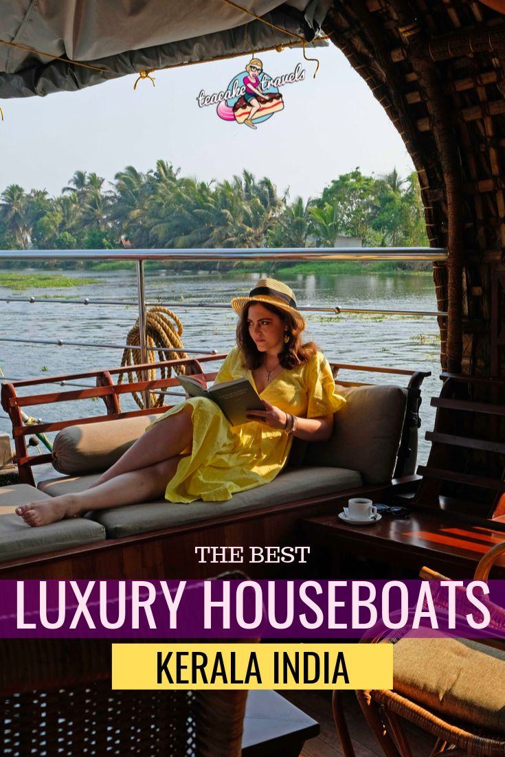 What is the best Alleppey Luxury Houseboat in Kerala India? Me and my friends tried out four different boat companies to compare them side by side! Click on the pin to head to my comparison article on Teacake Travels and choose the best houseboat experience for yourself.