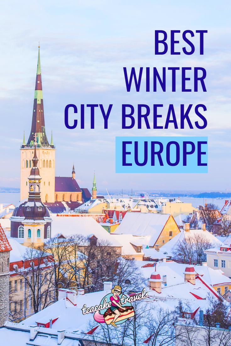 11 Best Winter City Breaks Europe Has To Offer! Europe in Winter is such a beautiful place to travel to. Discover what my favourite Winter destinations are over on the Teacake Travels blog. Pack your hat and gloves. It's time to travel to Europe in Winter! #europetravel #winter #winterdestination #europewintertravel #europedestinations #europetraveltips #traveltips #wintertravel