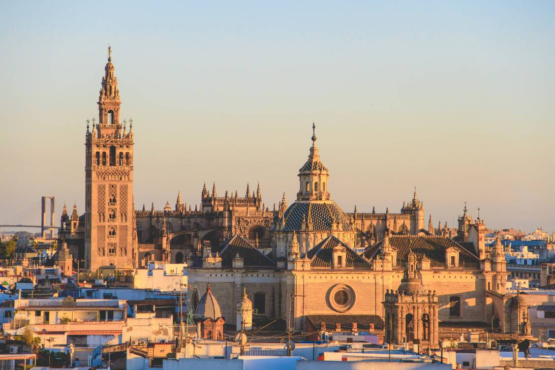 Photo of the Cathedral of Saint Mary of the See in Seville, Spain