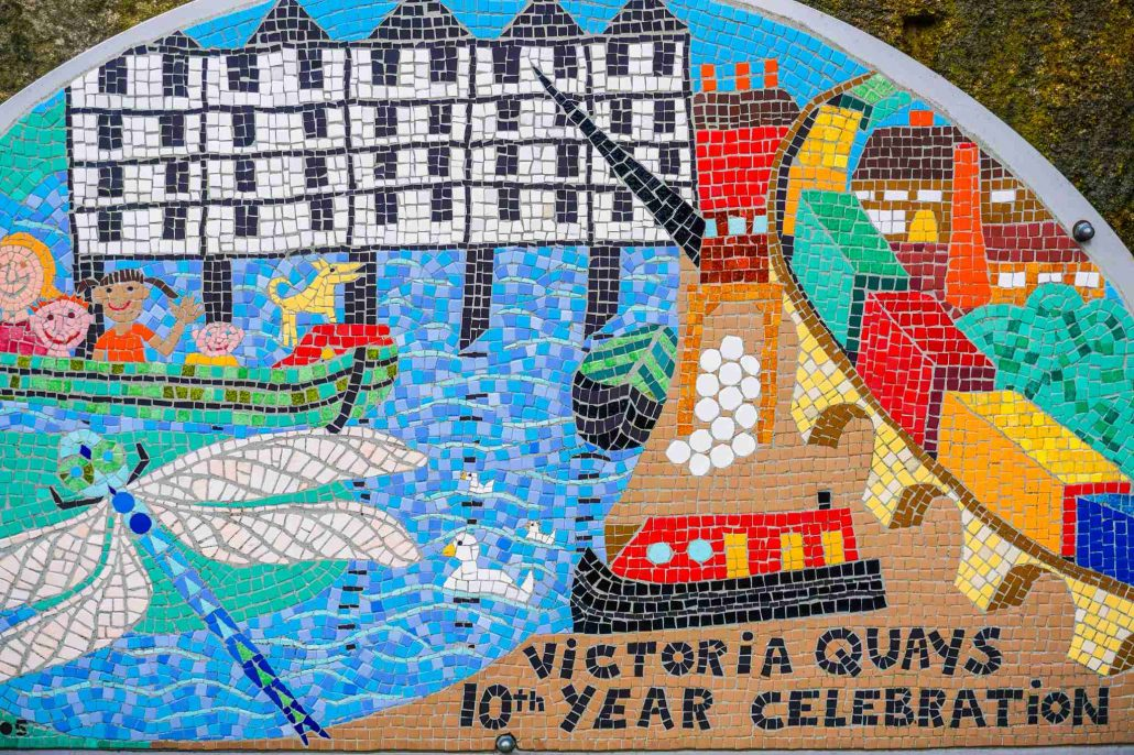 Mosaic of Victoria Quays in Sheffield England