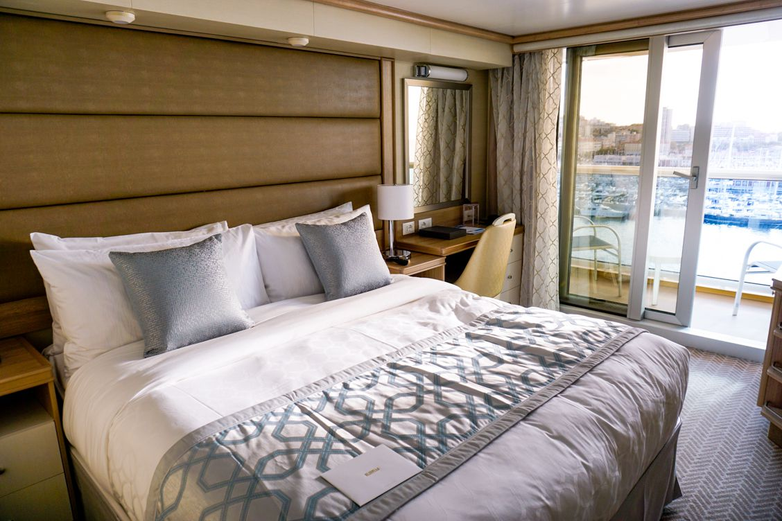 Sleek and stylish stateroom aboard Sky Princess with Princess Cruises