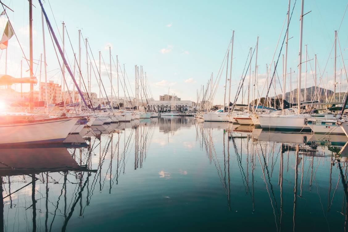 Photo of the harbour, Porto di Palermo, basking in daylight in Palermo, Italy