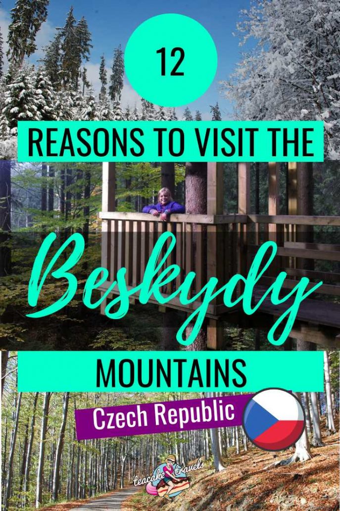 The Beskydy Mountains in the Czech Republic in the snow and in the sun!
