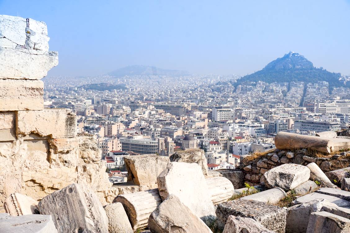 Photo of Athens Greece from the Parthenon lookout