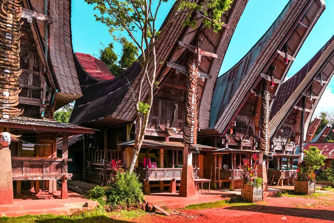 The unique wooden houses in Tana Toraja Regency