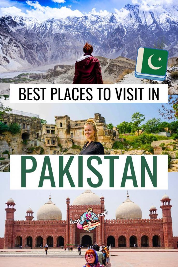 What are the best places to visit in Pakistan? There's the cities, the ruins and the mountains just to name a few! Discover my top 10 best places to visit in Pakistan in my blog post over on Teacake Travels! Pakistan destinations include Lahore, Hunza, Fairy Meadows, Sukkur, The Kalash Valleys and more! #pakistani #pakistantravel #travelpakistan #lahore #hunza #hunzavalley #kalash #solofemaletravel #pakistanzindabad