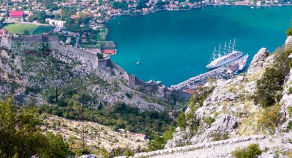 Make it to the top of the Ladder of Kotor hike in Montenegro and you'll be rewarded with this view