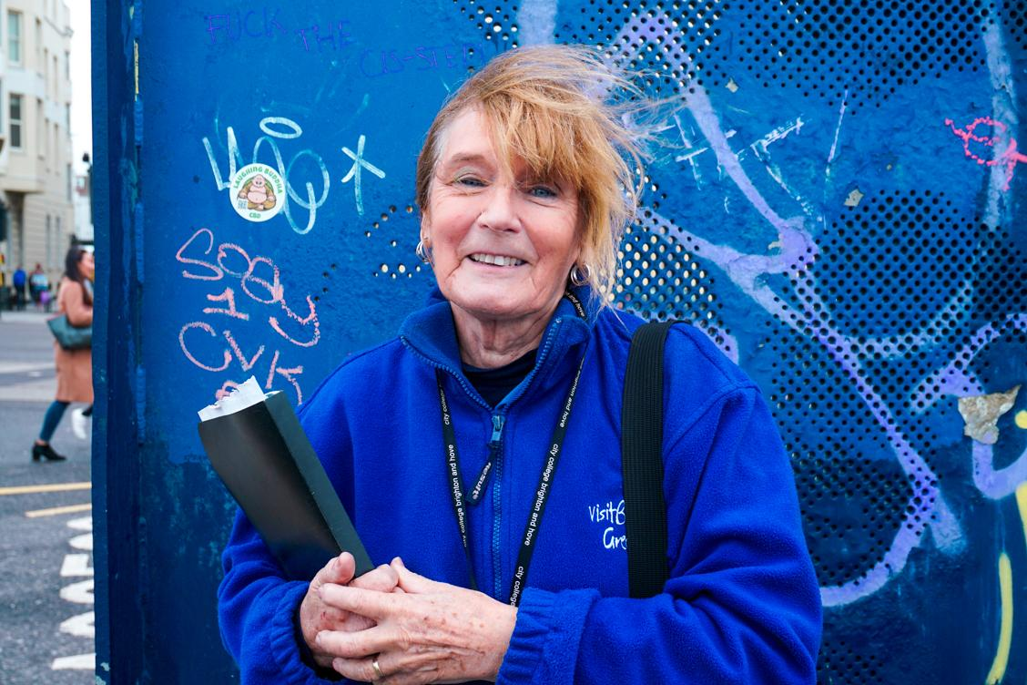 Jacqueline - a kind volunteer from Visit Brighton Greeters who will show you around Brighton City