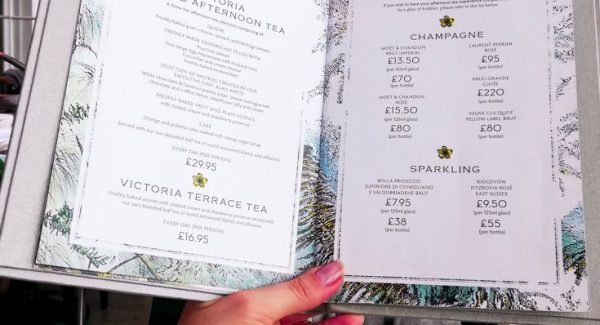 Afternoon Tea at The Grand menu with beautiful bird crockery and designs