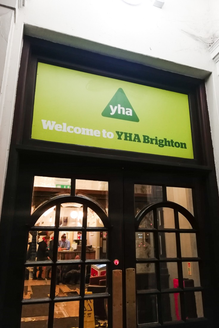 Spend your weekend in Brighton on a budget at YHA Brighton - this is the entrance to the hostel