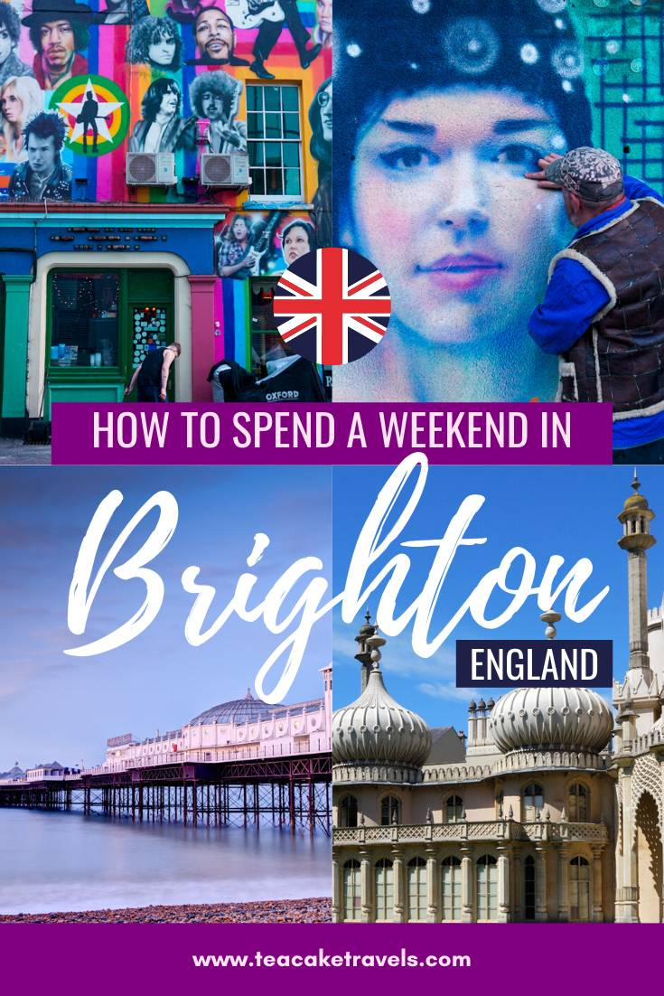 How to spend a weekend in Brighton pinterest pin - pin me!