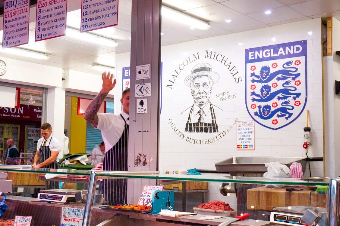 Malcolm Michaels Butchers in Leeds Kirkgate Market