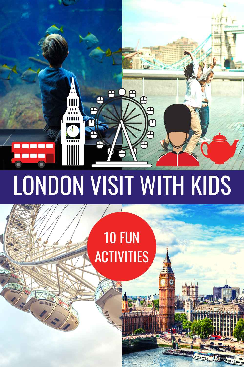 London visit with Kids