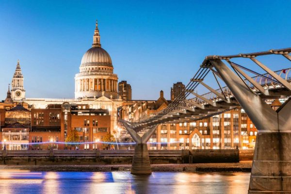 St Paul's Cathedral and Millennium Bridge are great sights to see during 24 hours in London